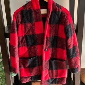 Wilfred CECILIE Plaid Coat from Aritzia